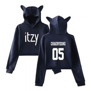 Itzy Chaeryeong Cropped Hoodie