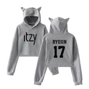 Itzy Ryujin Cropped Hoodie