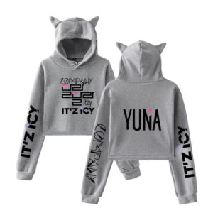 Itzy Yuna Cropped Hoodie #1