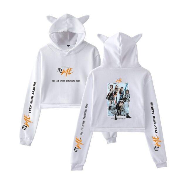 itzy itzme cropped hoodie